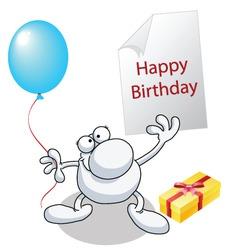Man happy birthday vector