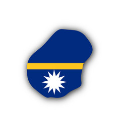 map and flag of nauru vector image
