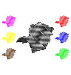 Minas gerais map vector