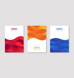 Modern fluid abstract colorful poster design set vector