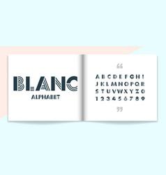 Modern font and alphabet set lettering design vector