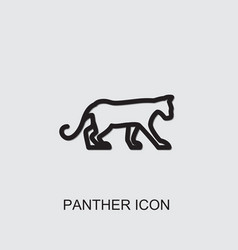 Panther icon vector
