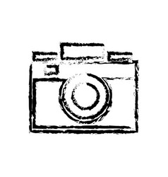 photo camera flash lens image sketch vector image
