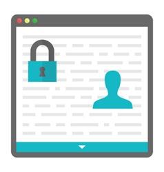 privacy icon vector image