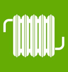 radiator icon green vector image