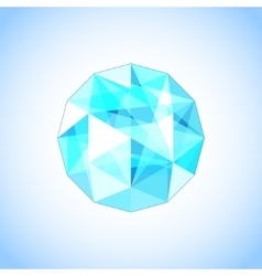 Realistic topaz shaped Gem vector