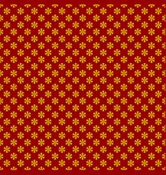 Seamless stylized snowflake pattern background vector