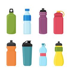 set bicycle plastic bottle vector image