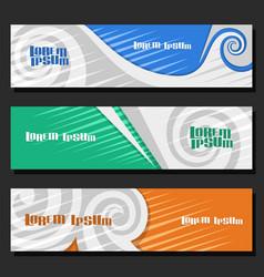set horizontal futuristic banners vector image