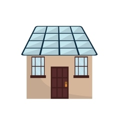 Smart house technology icon vector
