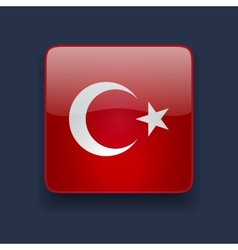 Square icon with flag of Turkey vector image