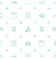 Square icons pattern seamless white background vector