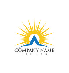 Sun logo template vector