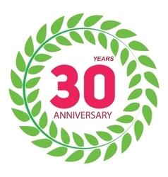 Template Logo 30 Anniversary in Laurel Wreath vector