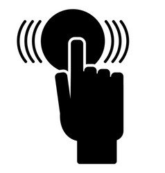 the finger presses button vector image