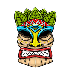 Traditional tiki island mask made from vector