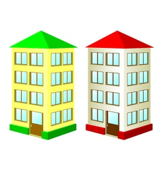 two high houses vector image