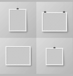 Vertical and horizontal realistic photo frames vector