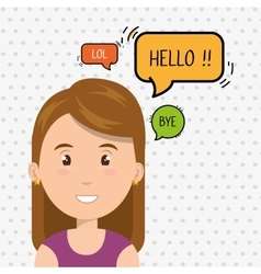 Woman chat message speaker vector