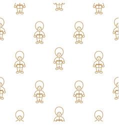british royal guardsman seamless pattern vector image