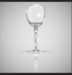 empty realistic glass isolated on mirror vector image