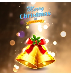 Jingle bells for christmas decoration vector