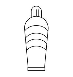 plastic tube cream thin line vector image