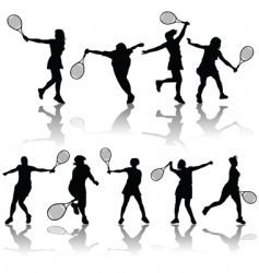 tennis players vector image vector image
