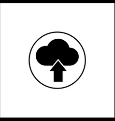 upload solid icon mobile sign and cloud pictogram vector image vector image