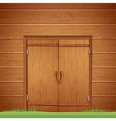 Wooden Barn Door Image vector image vector image