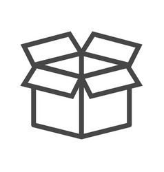 box thin line icon vector image