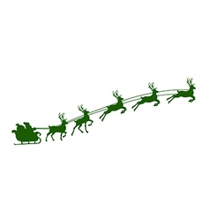 christmas reindeer harness vector image
