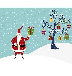 Christmas series Happy Santa Claus and Christmas vector image vector image