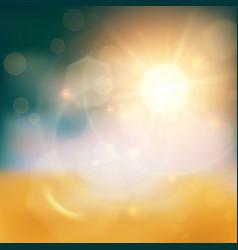 golden light background vector image