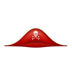 pirate hat with skull symbol vector image