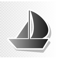 sail boat sign new year blackish icon on vector image