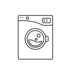 Washing machine line icon sign vector image