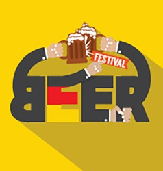 Beer Festival Typography Design vector image vector image