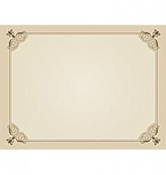 blank certificate vector image vector image