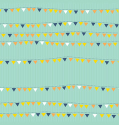 flags on string seamless pattern bunting vector image vector image