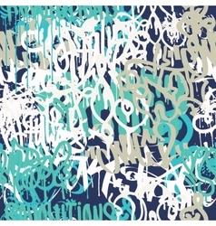 Graffiti background seamless pattern vector image vector image