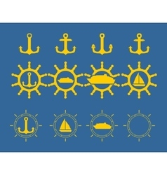 Sea Icons Set vector image vector image