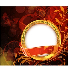 abstract gold label vector image vector image
