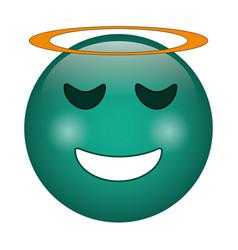 angel emoticon style icon vector image vector image