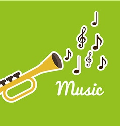 music lifestyle design vector image vector image