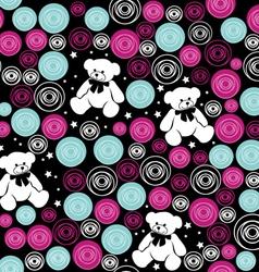 Seamless pattern Teddy bears vector image