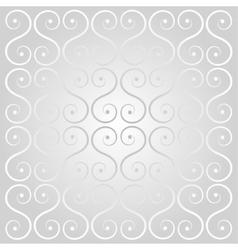 silver decorative lattice vector image vector image