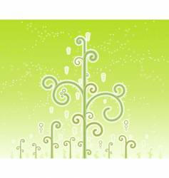swirly magic trees background vector image vector image