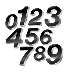 3-d block numbers vector