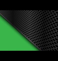 Abstract dark gray circle mesh triangle green vector